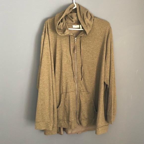 LOGO by Lori Goldstein Tops - Logo Lounge Sz 3X Hooded Full ZIP Sweatshirt